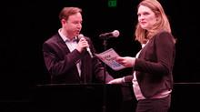 Julia adjudicating at Junior Theatre Festival West 2020
