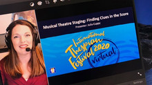 Julia teaching at the first VIRTUAL International Thespian Festival!