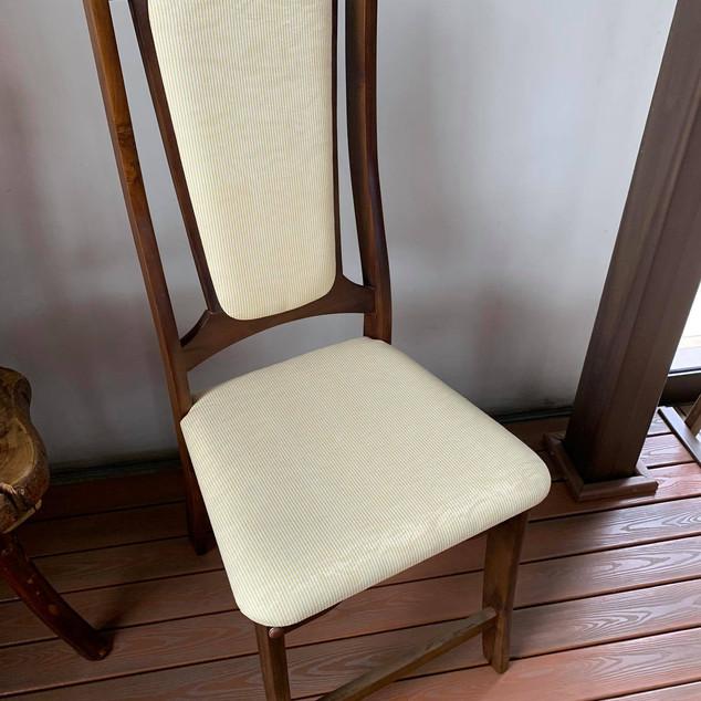 Cadeira Teca Alta Decoração Tingida