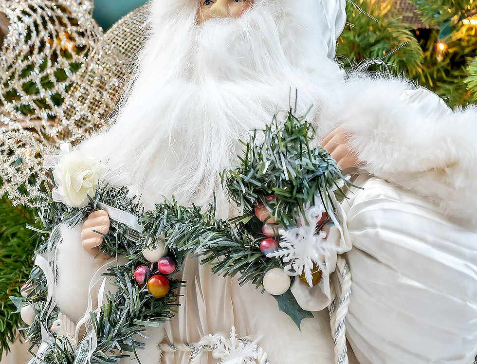 Merry Christmas white Santa