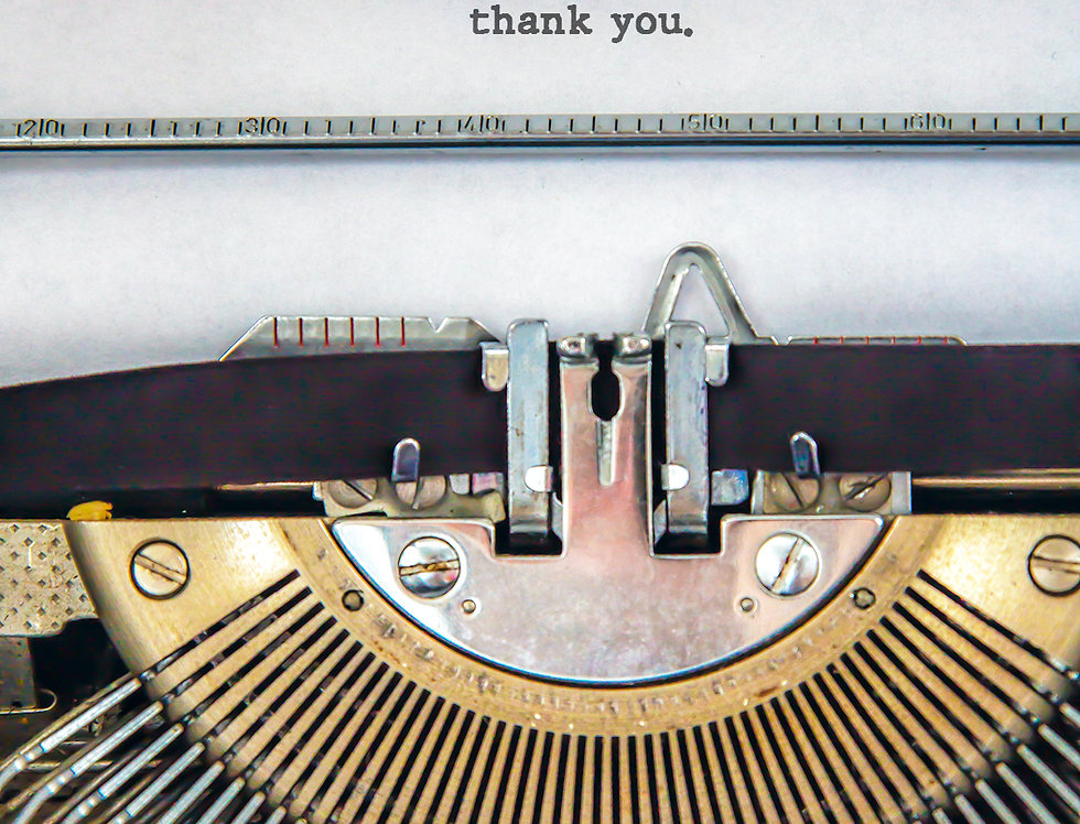 Thank you typewriter