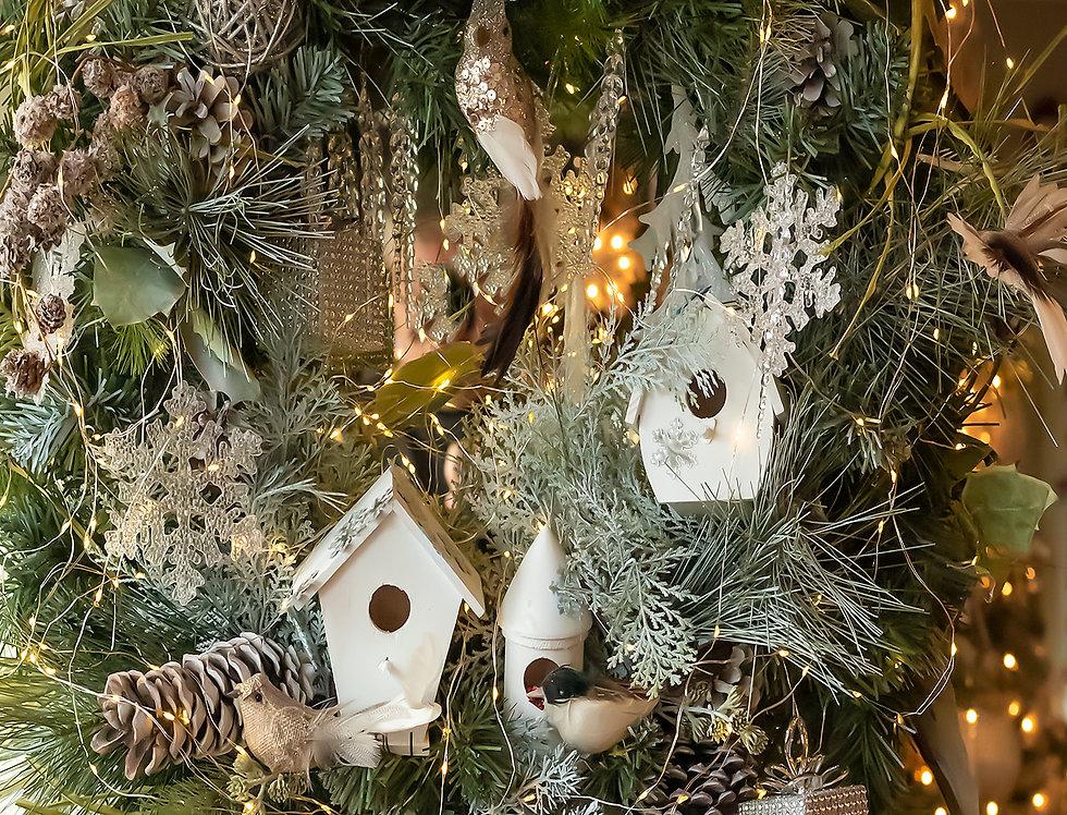 Seasons Greetings bird houses