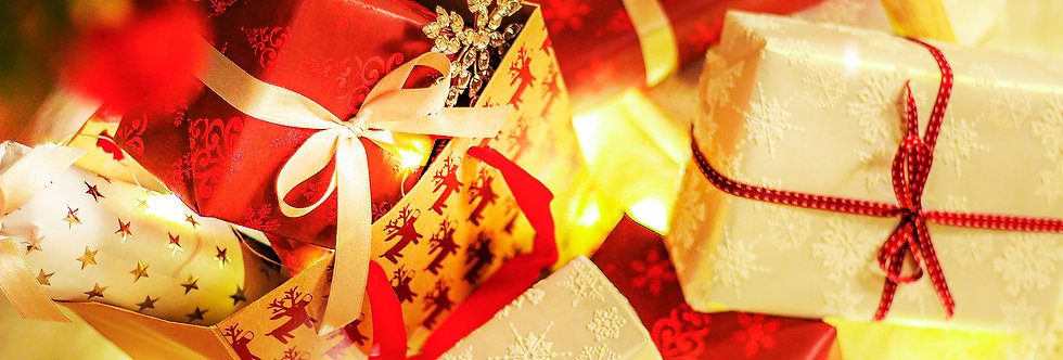 Happy Holidays gift boxes