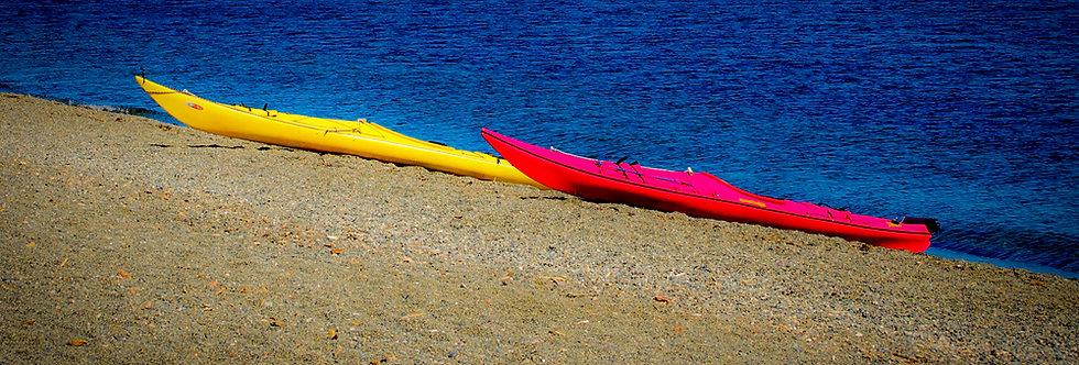 Two Kayaks on beach