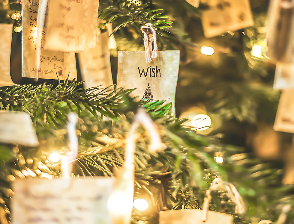 Christmas Note in tree