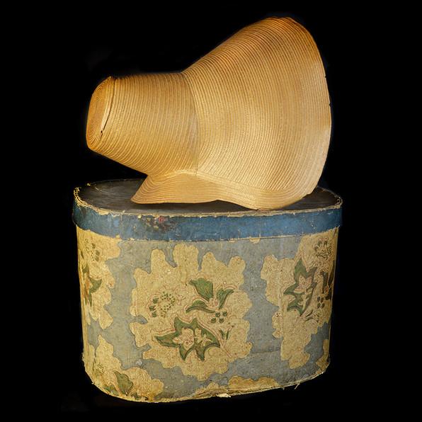 Straw Leghorn Bonnet ca. 1827