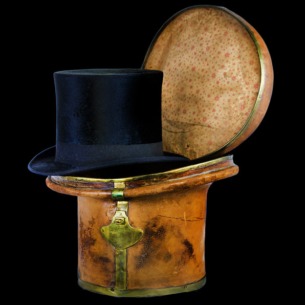 Victorian Top Hat with Case