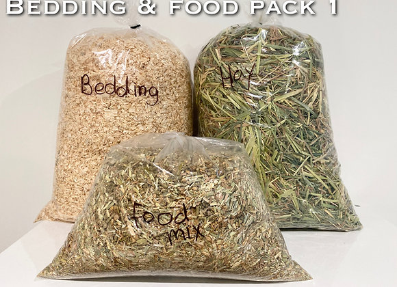 Bedding and Food Packs