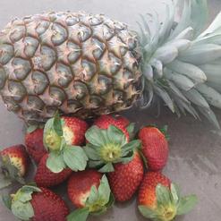 pineapple & strawberry