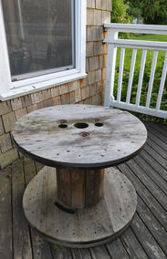 Small Wood Spindle Table