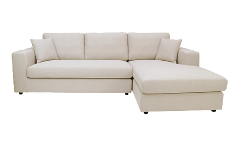 Jenny L Shape Sofa - Cream