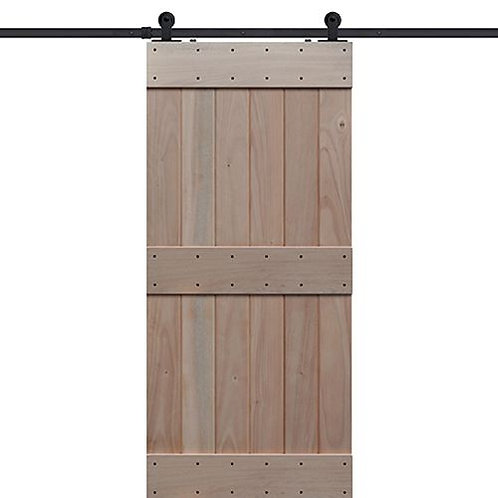 Shubox Ranch Style Mid Rail Barn Door