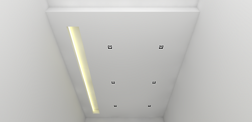 Flat False Ceiling with Cove