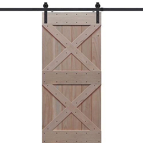 Shubox Double X Barn Door