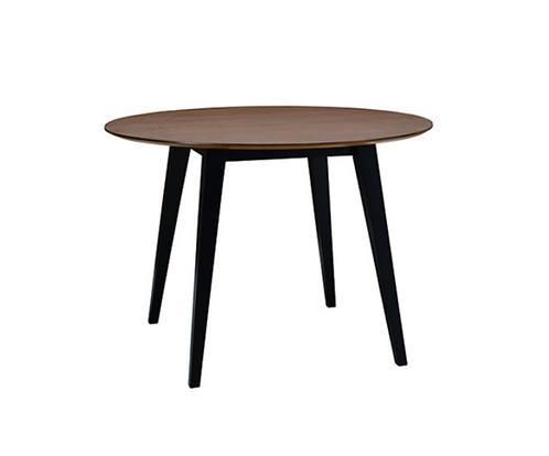 Ralph 4 Seater Round Dining Table - Black, Cocoa