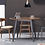 Thumbnail: Ralph 4 Seater Round Dining Table - Black, Cocoa