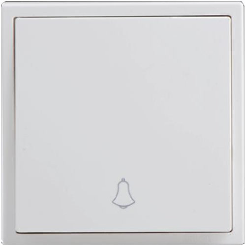 SIMON 16A 1 Gang Doorbell Switch - Matt White / Champagne / Graphite Black