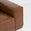 Thumbnail: Milan 3 Seater Sofa with Ottoman - Cowhide