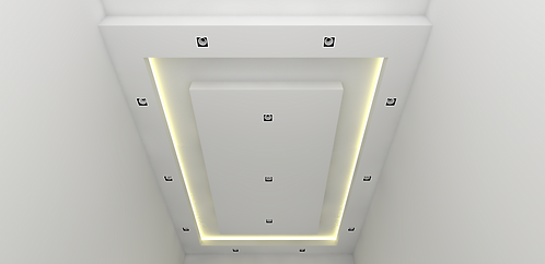 L Box False Ceiling with Suspended Cove