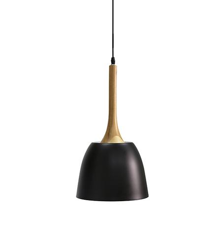 Wooden Dome Pendant - Black