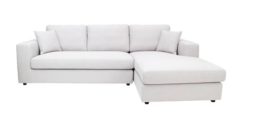 Jenny L Shape Sofa - Light Grey
