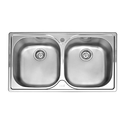 FRANKE kitchen sink top mount double bowl - PFX620B