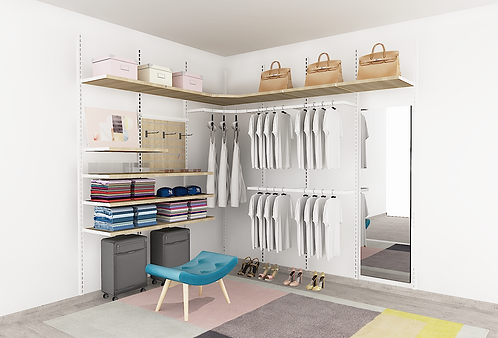 GOMA - L Open Concept Wardrobe