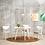 Thumbnail: Harold Round Dining Table - Natural, White