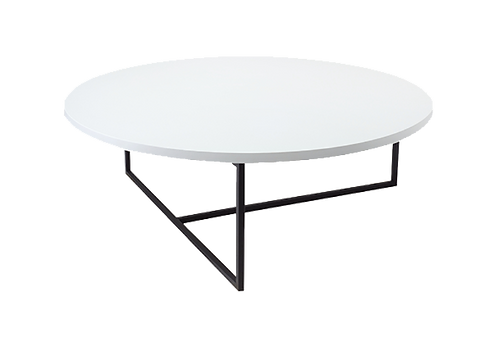 Felicity Coffee Table - White, Matt Black
