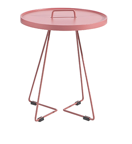 Avery Side Table - Antique Pink