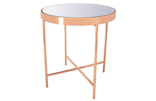 Xander small coffee table in Copper colour frame with mirror top