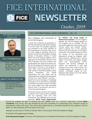 FICE International Newsletter, October 2019