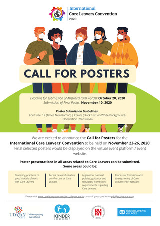 International Care Leavers Convention - November 23-26, 2020 CALL FOR POSTERS