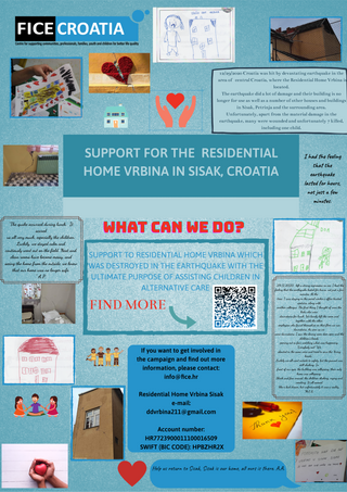 FICE Croatia has started a campaign to collect donations for Residential Home Vrbina