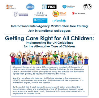 Getting Care Right for All Children: Implementing the UN Guidelines for the Alternative Care of Chil