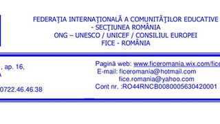 """INTERNATIONAL CONFERENCE """"THE FAMILY IN THE 21ST CENTURY"""" organized by FICE Romania"""