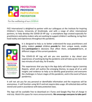 COVID-19 4P Log – a smartphone App to support practitioners and policy makers  in the child and yout