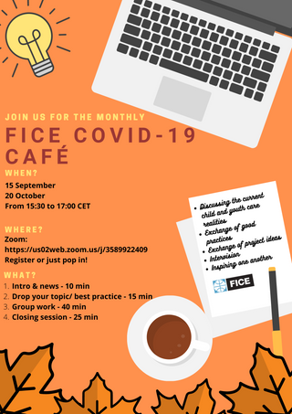 Join us today at 15:30 CET for the FICE Covid-19 Cafe