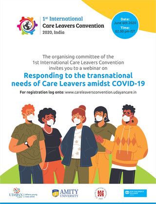 Webinar: Responding to the transnational needs of Care Leavers amidst COVID-19 Date: June 6, 2020 Ti