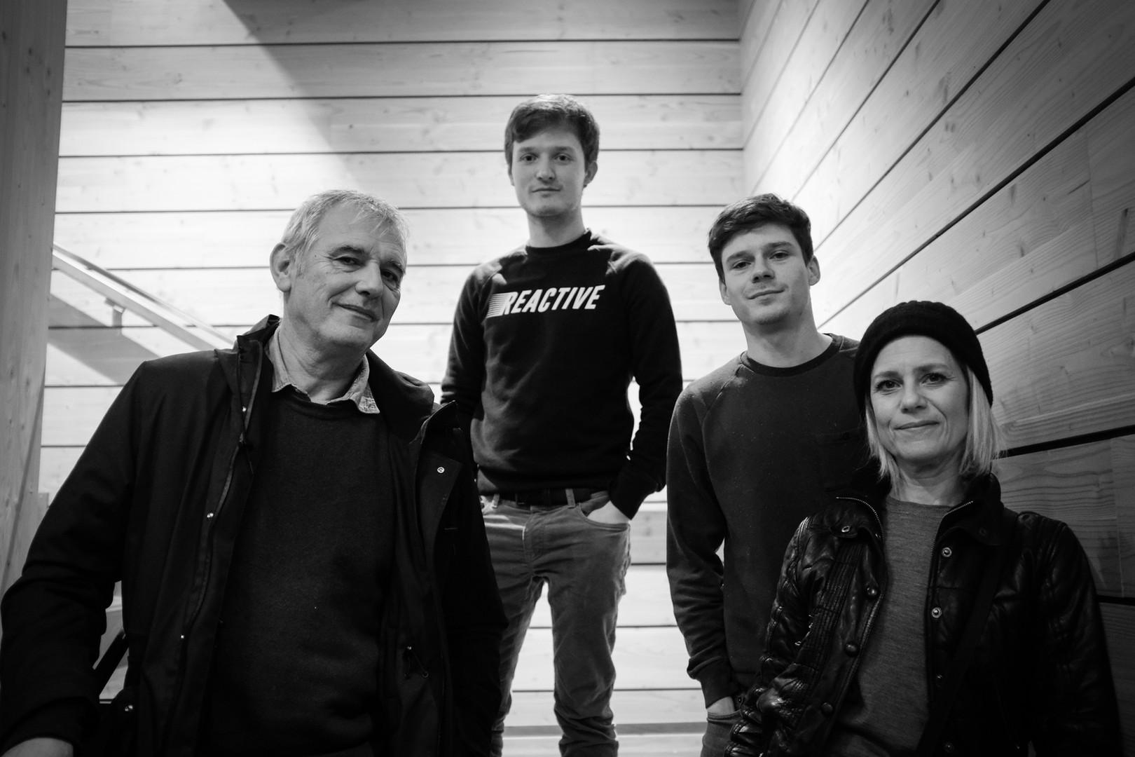 Laurent Cantet, Léolo Victor-Pujebet, Mathieu Morel et Marina Foïs