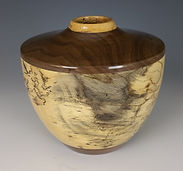 1726 Spalted Tamarind Walnut Hollow Form