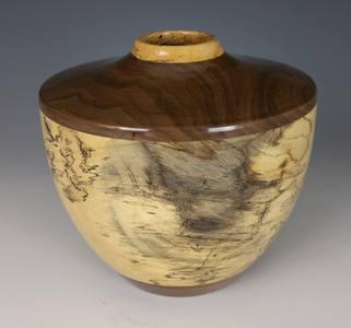1726 Spalted Tamarind Walnut Hollow Form