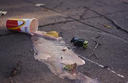 e milkshake garbage at Slam