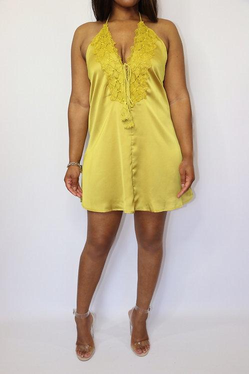Canary Satin Dress