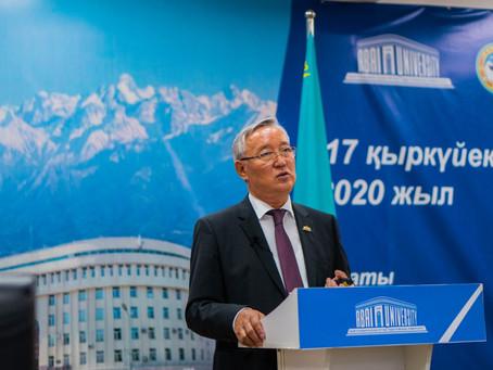 Ректор Abai University Такир Балыкбаев провел отчетную встречу