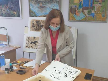 Баянаульские петроглифы «помогли» обучать учителей Павлодара инновационным способам стилизации