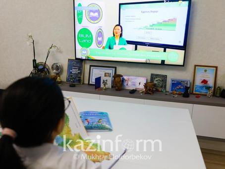 Видеоуроки для школьников снимают в Алматы