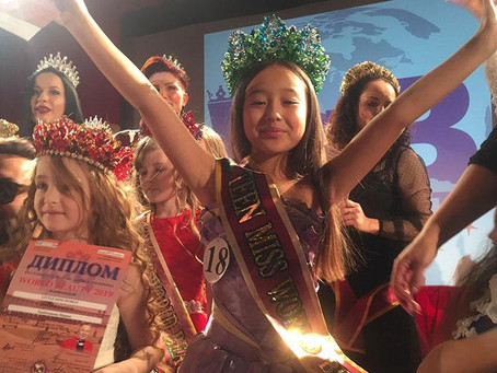Школьница из ВКО стала победительницей международного конкурса красоты «World Beauty - 2019»