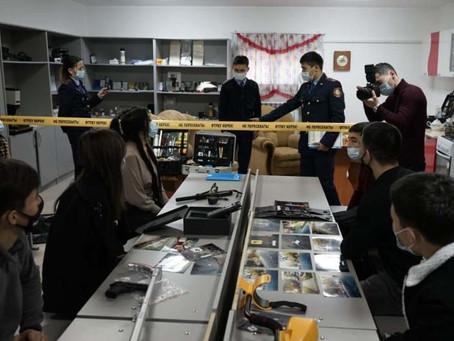 Онлайн-занятия для студентов-юристов проводят жамбылские полицейские