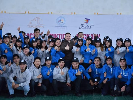 200 молодежных лидеров обучались волонтерству на тренинге в Туркестанской области
